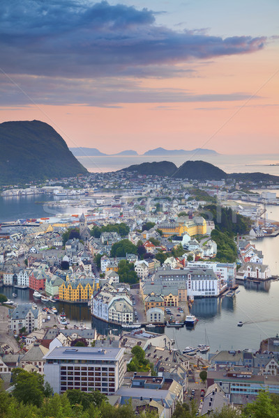 Foto stock: Noruega · imagem · norueguês · cidade