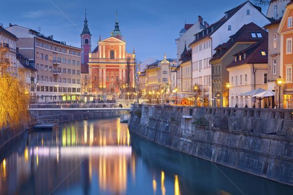 изображение Словения сумерки синий час Сток-фото © rudi1976