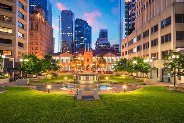 Brisbane stadsgezicht afbeelding vierkante centrum Australië Stockfoto © rudi1976