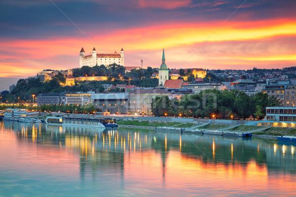 Foto stock: Bratislava · cityscape · imagem · cidade · Eslováquia · nuvens
