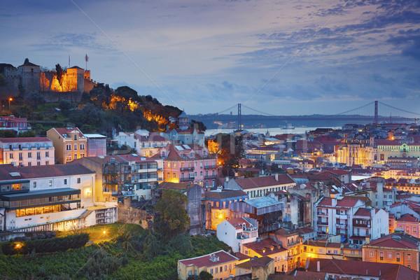 リスボン 画像 ポルトガル 黄昏 青 ストックフォト © rudi1976