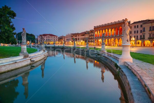 Paisaje urbano imagen Italia cuadrados cielo puesta de sol Foto stock © rudi1976