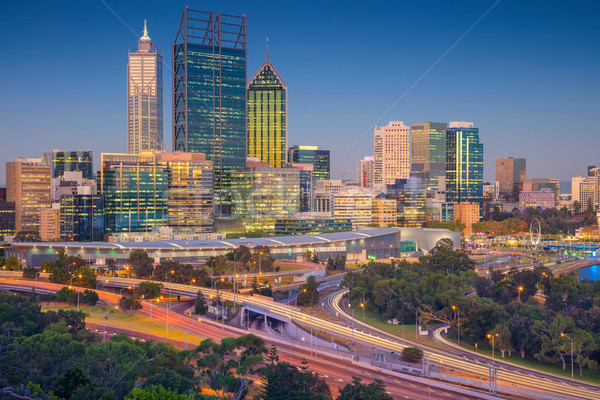 Сток-фото: Cityscape · изображение · Skyline · Австралия · небе · здании