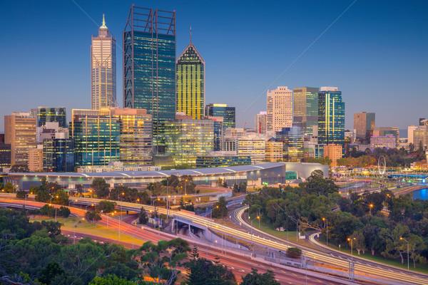 Stadsgezicht afbeelding skyline Australië hemel gebouw Stockfoto © rudi1976
