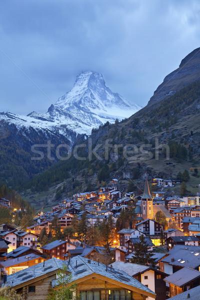 Zermatt and Matterhorn. Stock photo © rudi1976