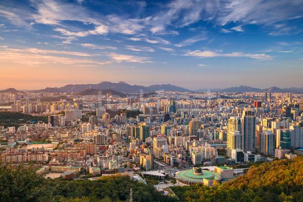 Seul cityscape imagem centro da cidade verão dia Foto stock © rudi1976