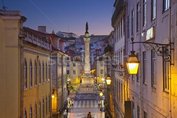 Lisboa imagen Portugal crepúsculo azul hora Foto stock © rudi1976