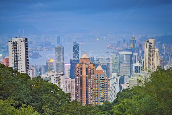 Гонконг изображение Skyline мнение Сток-фото © rudi1976