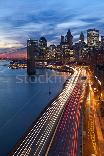 New York City imagem manhattan ocupado rodovia Foto stock © rudi1976