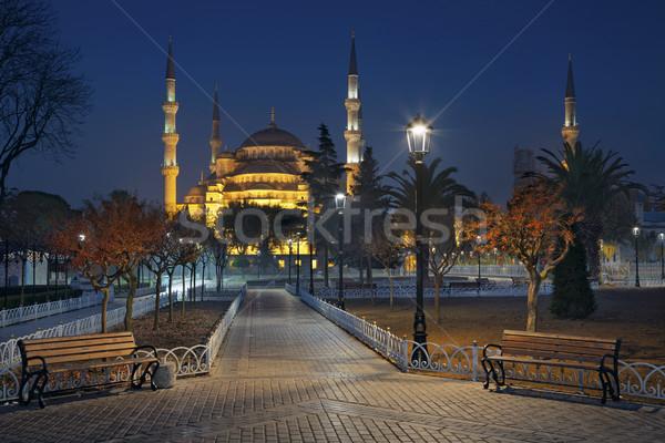 Istanbul immagine blu moschea Turchia crepuscolo Foto d'archivio © rudi1976