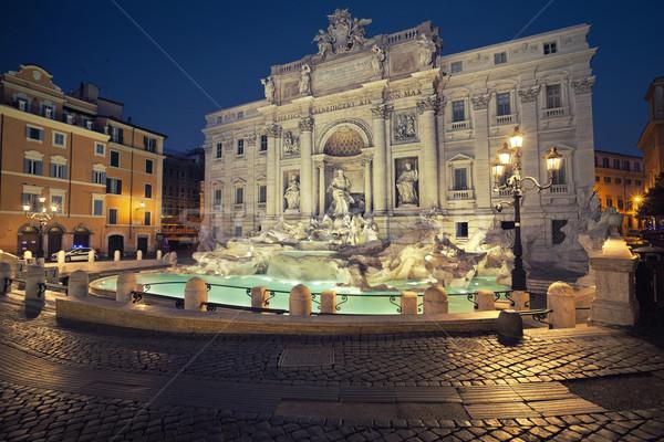 Róma kép híres Trevi-kút Olaszország Stock fotó © rudi1976