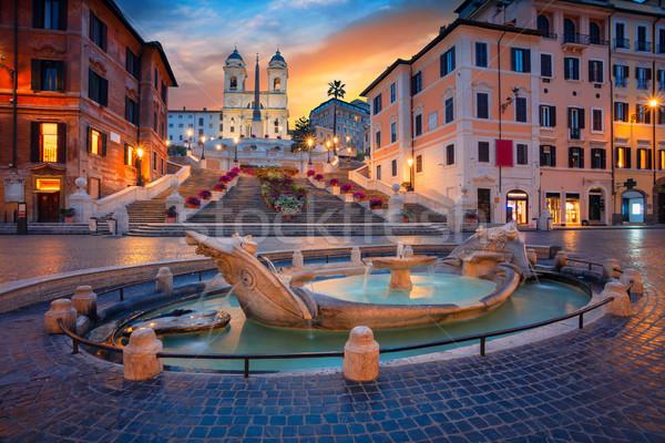 Рим Cityscape изображение испанский шаги Италия Сток-фото © rudi1976