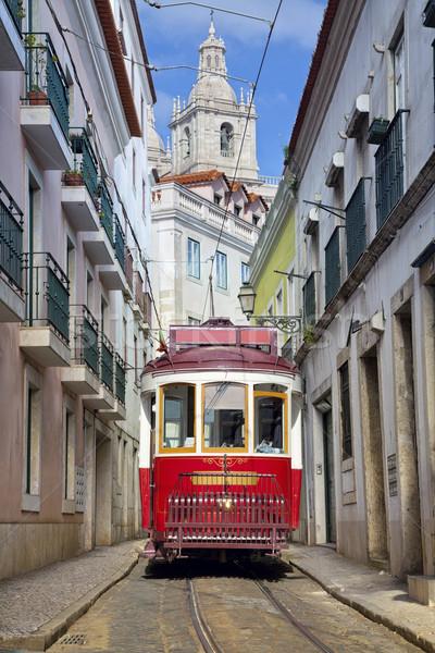 Lisbona immagine strada Portogallo storico tram Foto d'archivio © rudi1976