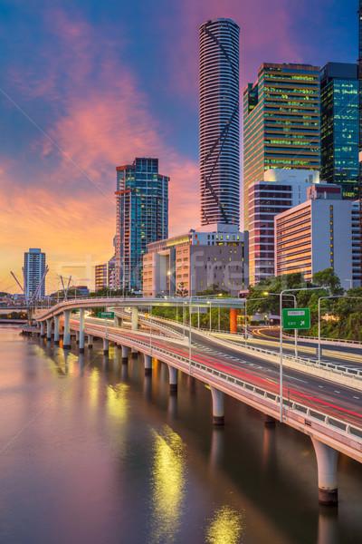 Brisbane stadsgezicht afbeelding skyline Australië dramatisch Stockfoto © rudi1976