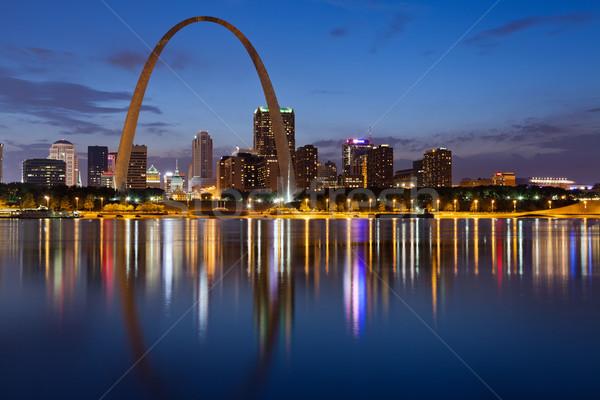 Foto stock: Cidade · linha · do · horizonte · imagem · centro · da · cidade · arco
