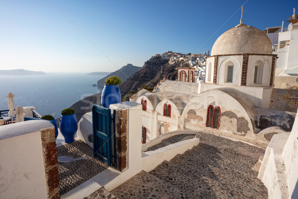 Santorini imagem famoso aldeia um ilha Foto stock © rudi1976