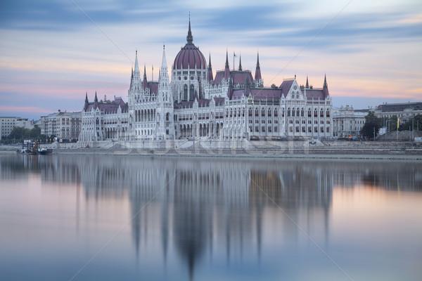 Budapeşte uzun pozlama görüntü parlamento Stok fotoğraf © rudi1976