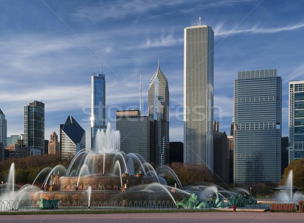 Fontaine parc Chicago USA architecture Photo stock © rudi1976