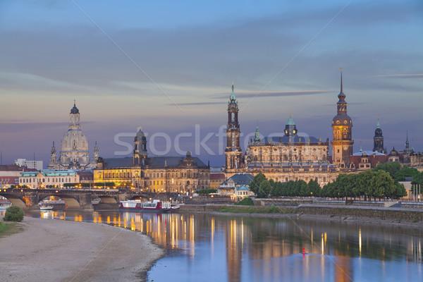 Dresda imagem Alemanha crepúsculo azul hora Foto stock © rudi1976