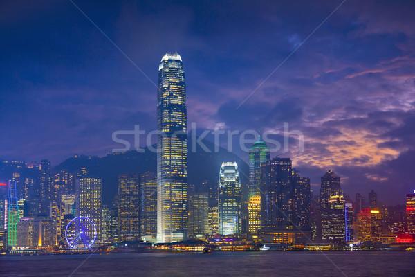 Гонконг изображение многие Небоскребы драматический закат Сток-фото © rudi1976