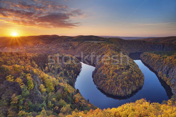 Autumn sunset. Stock photo © rudi1976