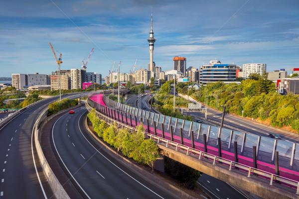 Cityscape görüntü ufuk çizgisi Yeni Zelanda yol Stok fotoğraf © rudi1976