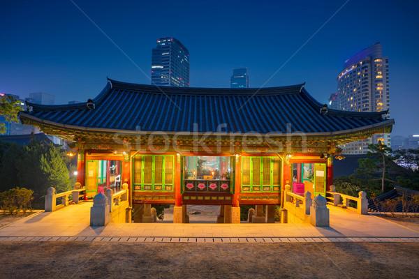 Seul ponto de referência templo distrito linha do horizonte arquitetura Foto stock © rudi1976