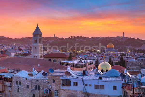 Сток-фото: Иерусалим · Cityscape · изображение · старый · город · Израиль · Восход