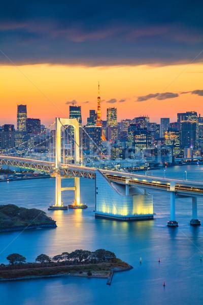 Tóquio cityscape imagem Japão arco-íris ponte Foto stock © rudi1976