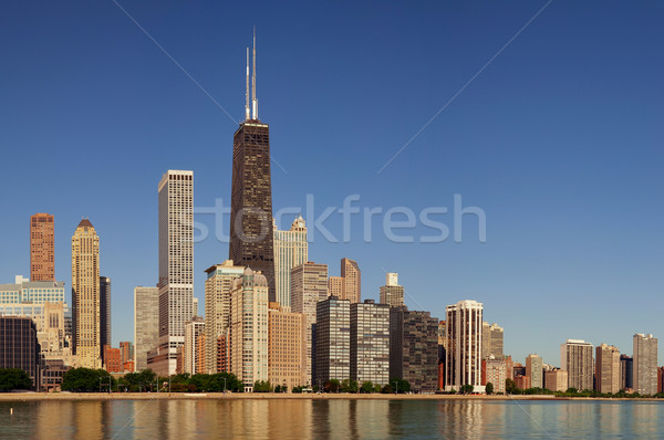 Photo stock: Chicago · Skyline · image · matin · lumière · bâtiment