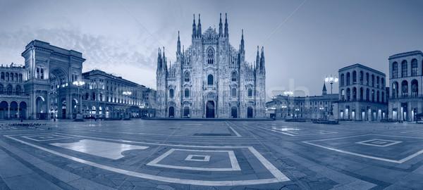 Milan panoramik Cityscape görüntü İtalya katedral Stok fotoğraf © rudi1976