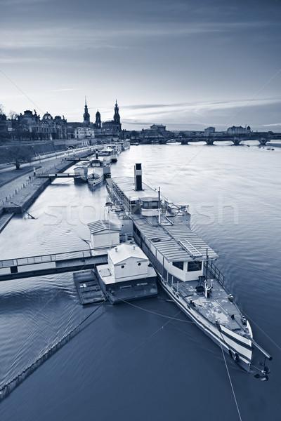 Dresda imagem Alemanha pôr do sol rio primeiro plano Foto stock © rudi1976
