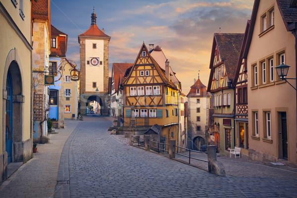 Görüntü kasaba Almanya iyi ortaçağ Stok fotoğraf © rudi1976