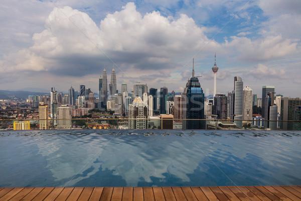 Cityscape görüntü Bina şehir otel park Stok fotoğraf © rudi1976