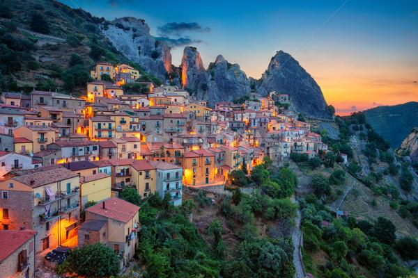 Itália cityscape imagem medieval cidade Foto stock © rudi1976
