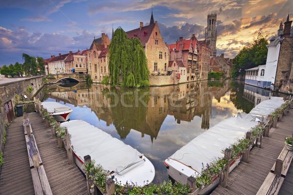 изображение известный расположение Бельгия драматический закат Сток-фото © rudi1976