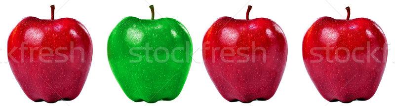 Gruppo rosso verde mele isolato shot Foto d'archivio © ruigsantos