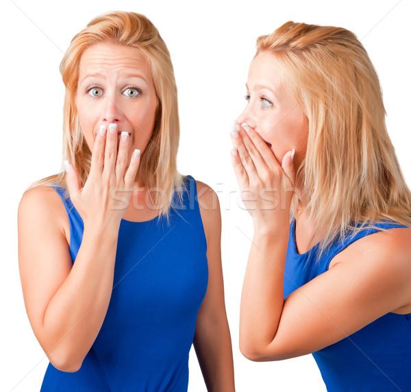 秘密 女性 話し リスニング ビジネス ストックフォト © ruigsantos