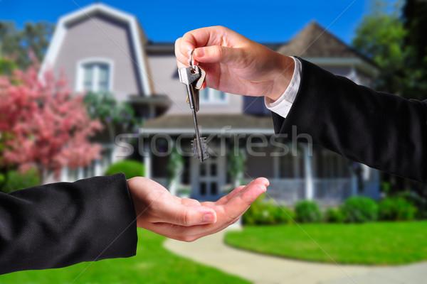 Handing over the keys Stock photo © ruigsantos