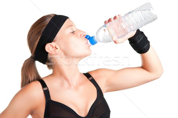 Woman Drinking Water Stock photo © ruigsantos