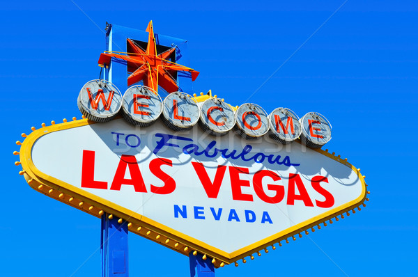 Welkom Las Vegas teken foto fabelachtig kleur Stockfoto © ruigsantos