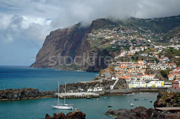 Madeira ada Portekiz doğa dağ bulut Stok fotoğraf © ruigsantos