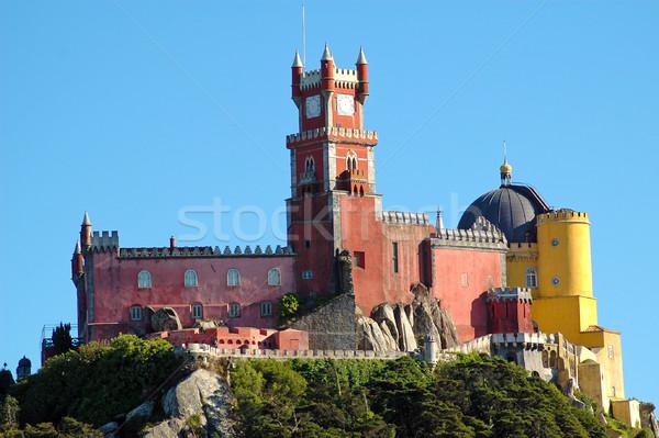 Paleis Portugal hemel huis boom gebouw Stockfoto © ruigsantos