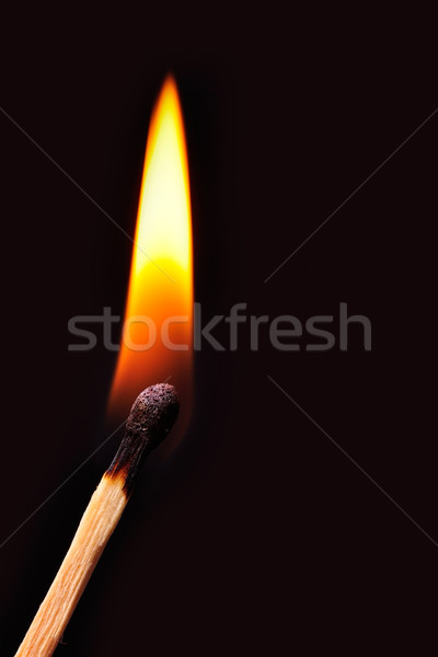 Wedstrijd Rood zwarte explosie vlam viering Stockfoto © ruigsantos