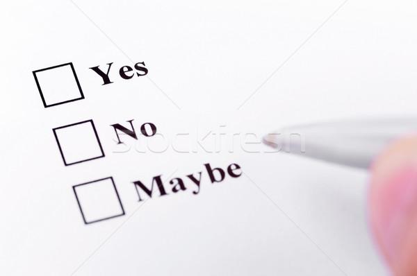 Yes, No, Maybe Stock photo © ruigsantos