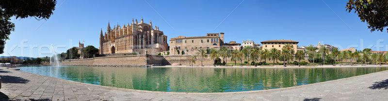 Mallorca Cathedral Panorama Stock photo © ruigsantos