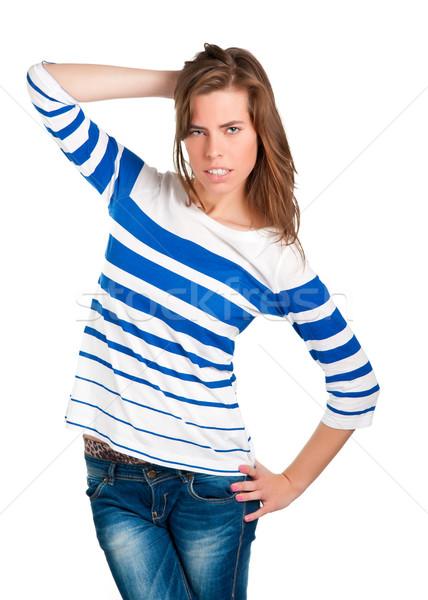 Confused Woman Stock photo © ruigsantos