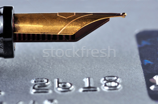 Credit Card and Fountain Pen Stock photo © ruigsantos