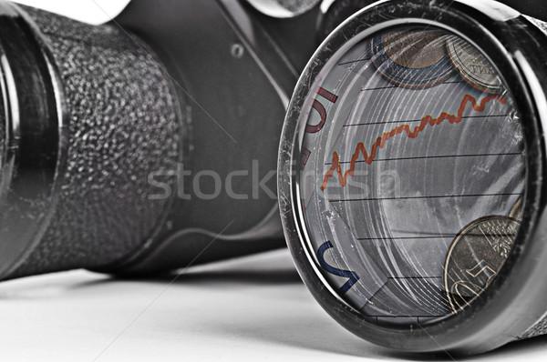 Velho binóculo crise financeira veja negócio Foto stock © ruigsantos