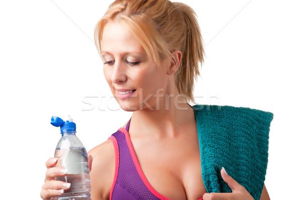 女性 飲料水 ドリンク 水 プラスチック ボトル ストックフォト © ruigsantos